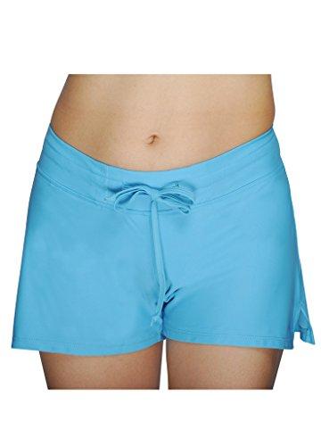 damen uv schutz blau wassersport schwimmen bikinihose badeshorts schwimmshorts boardshorts xxl. Black Bedroom Furniture Sets. Home Design Ideas
