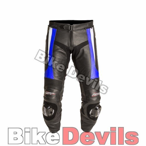 RST BLADE SPORT ROAD RACE MOTORCYCLE MOTORBIKE LEATHER TROUSER JEAN BLUE 34