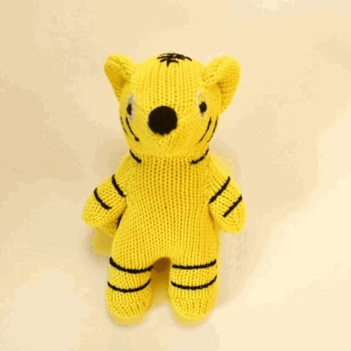 Sckoon Organic Cotton Yellow Tiger Doll - 1