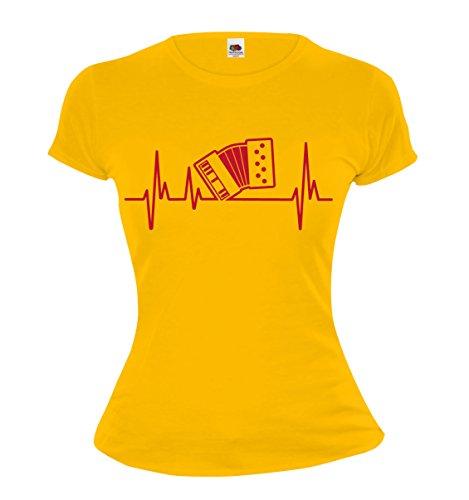 Girlie-T-Shirt-Musikfrequenz-Akkordeon
