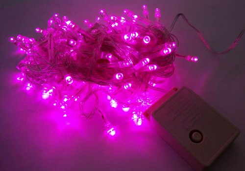 Willlight 8 Modes 10M 100 Led String Fairy Light For Wedding Christmas Party Holiday-Pink