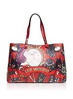 Love Moschino Bolso asa de mano (Rojo)