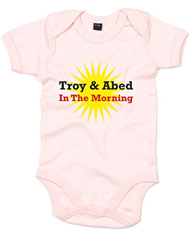 Troy & Abed In The Morning, Printed Baby Grow - Powder Pink/Transfer 3-6 Months (Paintball Merchandise compare prices)