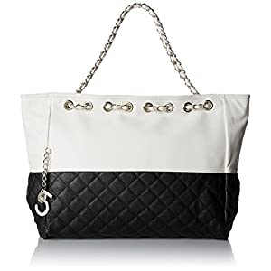 MG Collection Camryn Quilted Oversized Hobo Handbag, Black, One Size