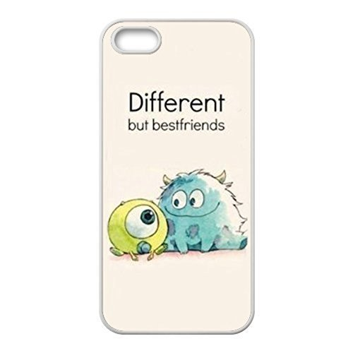 Classic Cartoon Movie Series&Monsters, Inc. Sully & Mike Pattern Silicone Rubber Non-slip Protective Cover Case Skin For Apple iPhone 5 5S (Monsters Inc Cases For Iphone 5s compare prices)