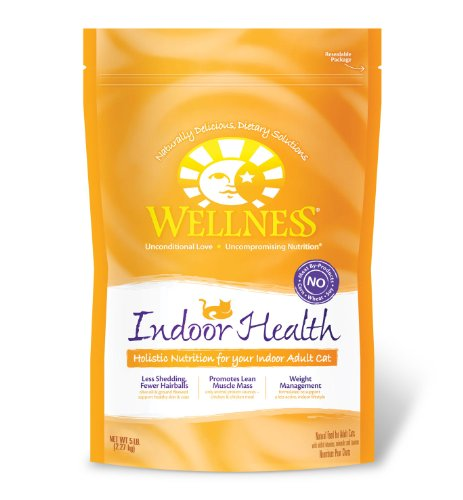 See Wellness Indoor Health Adult Cat Food Bag, 5-Pound