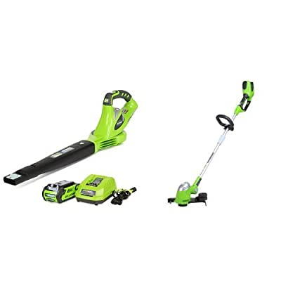 GreenWorks G-MAX 40V Li-Ion Cordless Variable Speed Sweeper