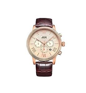 JEDIR ML2012GBN-3 Fashion Design Quartz waterproof Watch with Leather Watchband.