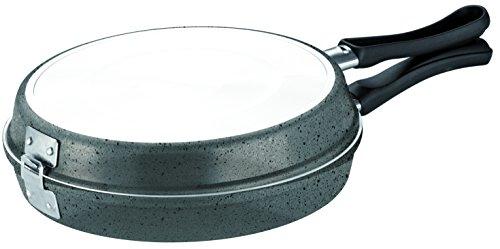 Bialetti - Y0C5FB0240 - Trudi R - Poêle Omelette + Ustensile Aluminium - 24 cm - Gris