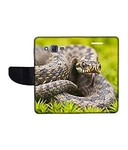 KolorEdge Printed Flip Cover For Samsung Galaxy J5 Multicolor - (1478-50KeMLogo10366SamJ5)