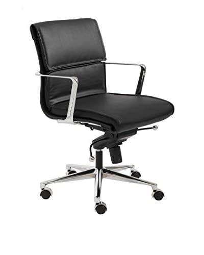 Euro Style Leif Low Back Office Chair, Black