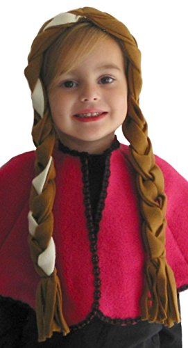 Alexanders Costumes Women's Ice Princess 20 Inch Braided Headband, Brown, One Size - 1