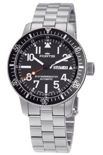 Fortis Men's 647.10.41M B-42 Marinemaster Automatic Black Dial Watch