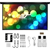 Elite Screens ST100XWH2-E24 100 Inch Diag Starling Electric Wall Spectra White 16 9 24 Inch Top