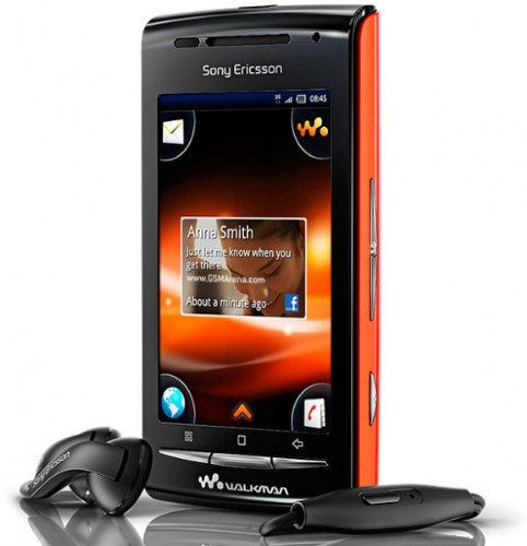 Sony Ericsson E16i Walkman W8 Unlocked GSM Phone with 3 MP Camera, Android OS, Wi-Fi and Bluetooth - Unlocked Phone - No Warranty - Orange