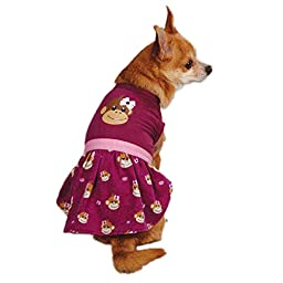 East Side Collection ZM3488 06 14 Monkey Business Dress for Dogs, Teacup Tiff