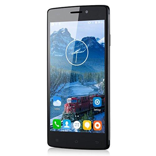 Schwarz CUBOT X12 Quad-Core Dual SIM FDD-LTE 4G-Smartphone ohne Vertrag 1G+8G Android 5.1 5,0'' Zoll Handy Dual Kameras OTG GPS IR-Fernbedienung