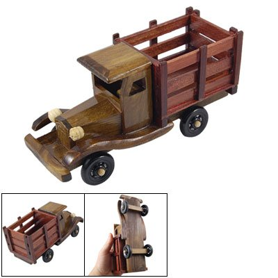 Collectible Vintage Style Plastic Wheel Wooden Classic Car Model