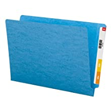 Smead End Tab Folder, Legal, Straight, 11 Point, Blue, 100 per Box (28010)