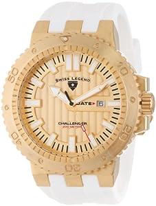 Swiss Legend 10126-YG-010-WHT - Reloj de pulsera hombre, caucho