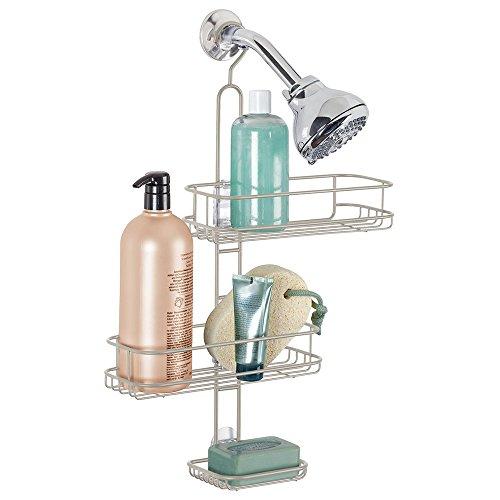Panier de douche ajustable mDesign pour shampooing, revitalisant, savon - Satin