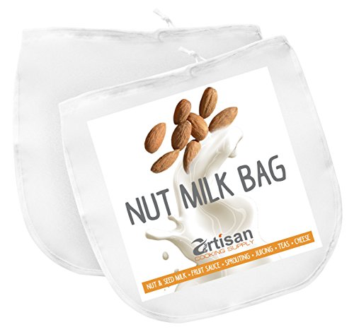 Nut Milk Bag | 12 X 12 Commercial Grade | Best As Reusable All Purpose Strainer | 2 Pk Fine Mesh Nylon & Cold Brew Coffee Filter | Save Money With Healthier Habits (Yogurt Strainer Glass compare prices)