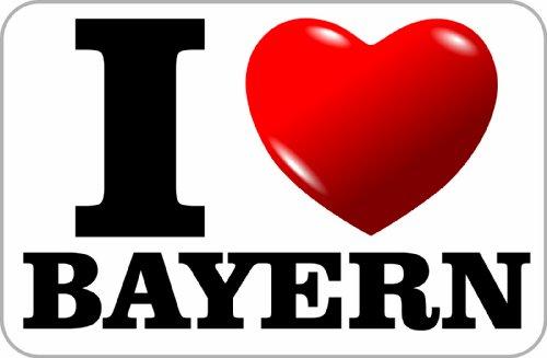 Aufkleber / Sticker / I Love Bayern (ich liebe Bayern) 75 x 115 mm selbstklebend