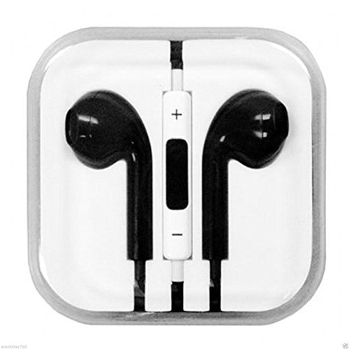 Treasure Brand Earphone In-Ear Headphone With Microphone & Volume Control For I Phone I Pad I Pod High Quality 3.5 Mm Plug For Mp3 Player (Black)