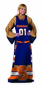 NCAA Syracuse Orange Adult Full Body Player Design Comfy Throw with Sleeves