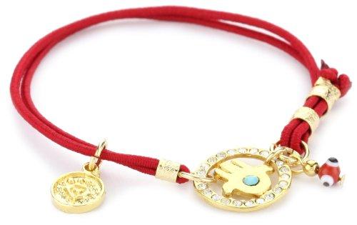 Blee Inara Red Elastic Hamsa with Swarovski Bracelet