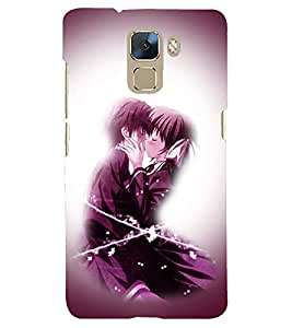 PRINTSHOPPII LOVE Back Case Cover for Huawei Honor 7