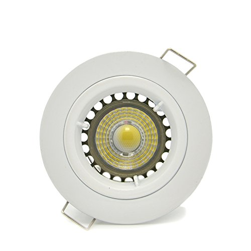 Dimmable 4-Pack Brillight 5W Cob Creexlamp Led Recessed Downlight Kit, Cool White 5000 Kelvin