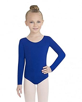 Capezio Long Sleeve Leotard, Royal, Small