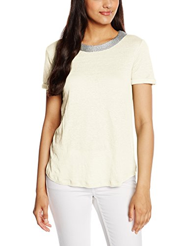 Mexx MX3020736 Women Tshirt Short Sleeve-T-shirt  Donna    Elfenbein (cloud dancer 102) 38