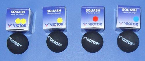 4er Set Victor Squashbälle, Squashball-Set, 4 Geschwindigkeiten