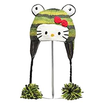 Amazon Hello Kitty Frog Animal Knit Pilot Hat Clothing