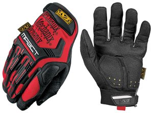 Mechanix Wear M-Pact MPT-02 Red 11 Synthetic Leather/Trekdry Mechanic's Gloves - Thermoplastic Elastomer Fingers & Knuckles Coating - MPT-02-011 [PRICE is per PAIR]