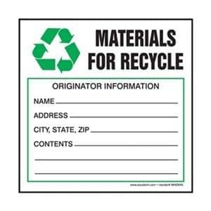 Amazon.com: Hazardous Waste Label, 4 In. H, PK100: Home Improvement