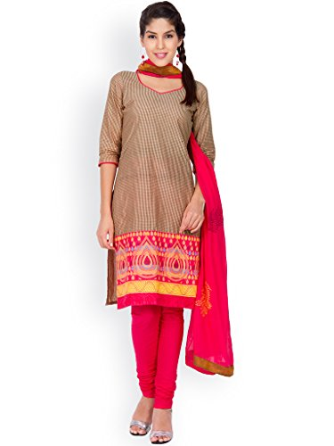 EthnicQueen Brown Colour Super Fine Cambric Cotton Dress ...
