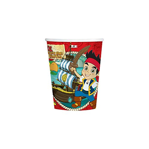 Hallmark Unisex Adult Disney Jake and the Never Land Pirates 9 oz. Paper Cups Black Medium