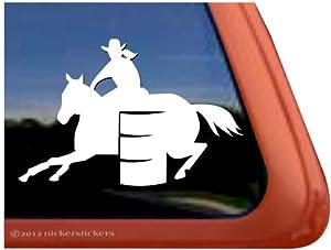 Amazon.com: Barrel Racing Horse Trailer Vinyl Window Decal Sticker