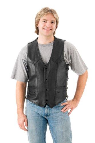 Mossi Men's Side Lace Vest (Black, Size 46)