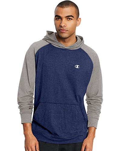 Champion Men's Vapor Cotton Pullover Hoodie, Champ Navy Heather/Oxford Gray, X-Large