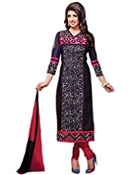 Chandni Chowk Cotton Semi Stiched Salwar Suit - B01994ROT2