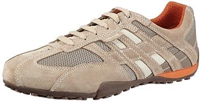 Geox U SNAKE ART.M U1107M02214C0845, Herren Sneaker, Beige (BEIGE/DK ORANGE C0845), EU 40