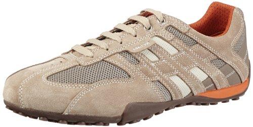 GeoxU SNAKE ART.M - Pantofole Uomo , beige (Beige (BEIGE/DK ORANGE C0845)), 45 EU