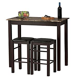 Amazon Com Small Dinner Table And Bar Stool Style Chair