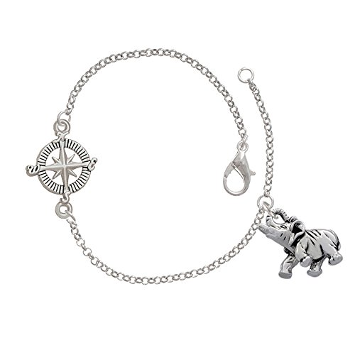 Elephant Delicate Compass Bracelet