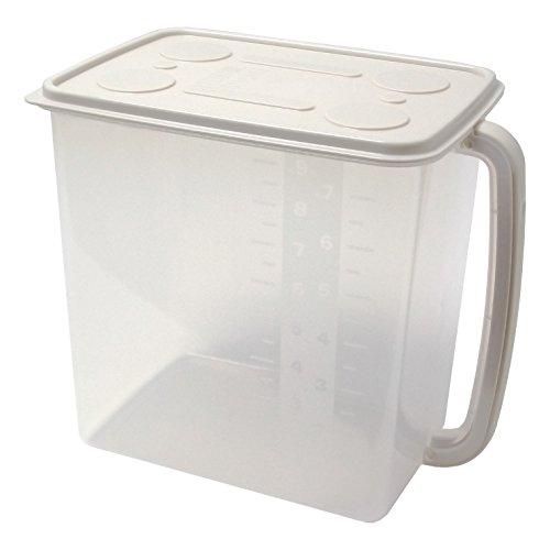 サンコープラスチック 日本製 キッチン 収納容器 整理ストッカー 大 ベージュ