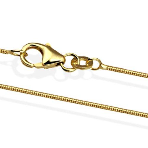 Goldmaid Unisex-Halskette Gold 750 Schlangenkette 45 cm Ke_977GG750